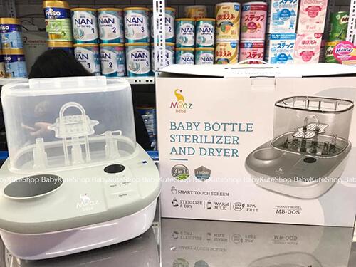thương hiệu máy tiệt trùng bình sữa moaz bebe