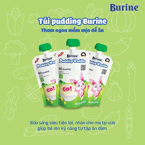 hướng dẫn sử dụng cháo sữa Burine