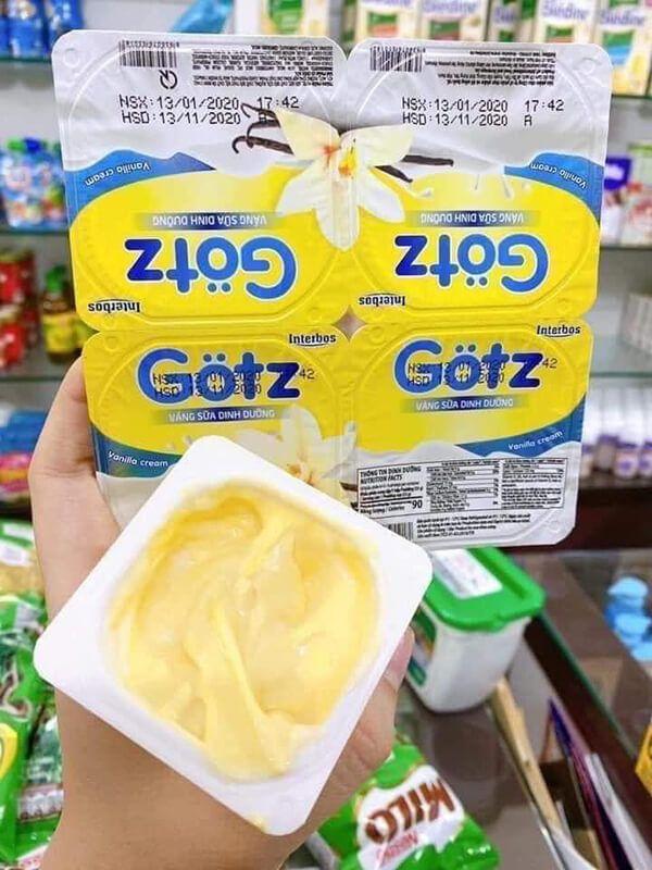 trải nghiệm thực tế váng sữa Gotz