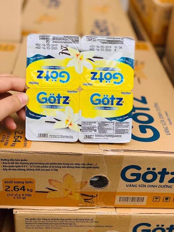 váng sữa Gotz nên sử dụng cho trẻ trên 6 tháng