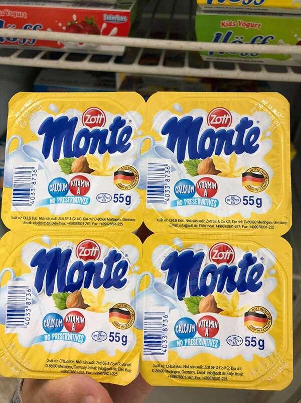 review váng sữa monte