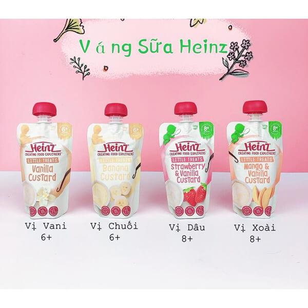 váng sữa heinz đa dạng hương vị