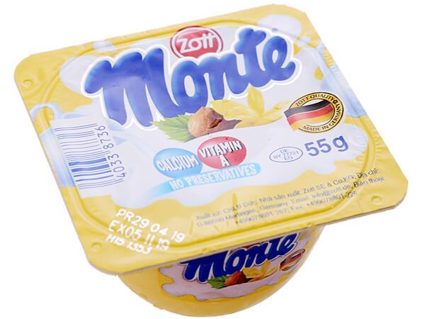 váng sữa monte khá nổi tiếng với các mẹ bỉm